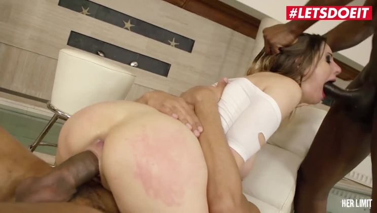 -  - Insane DP BBC Threesome With Big Tits British Teen #letsdoeit